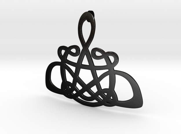 CelticKnot Pendant in Matte Black Steel