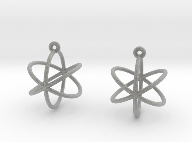 Orbit Earrings in Metallic Plastic