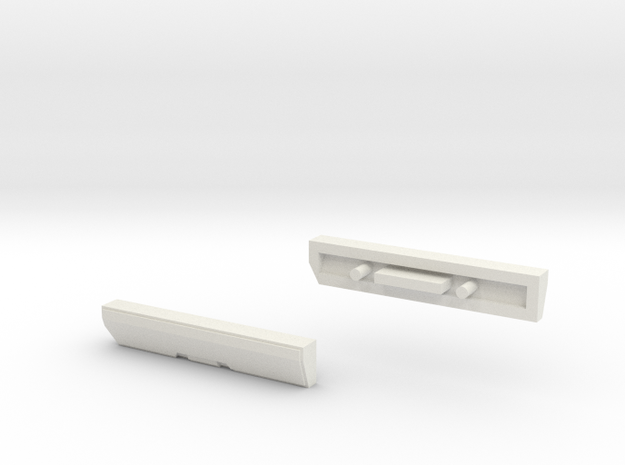 Scoria Left And Right Side Panels in White Natural Versatile Plastic