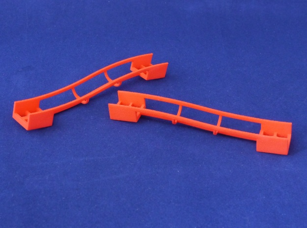 Marble Run Bricks: Sloped Track Set in Red Strong & Flexible Polished