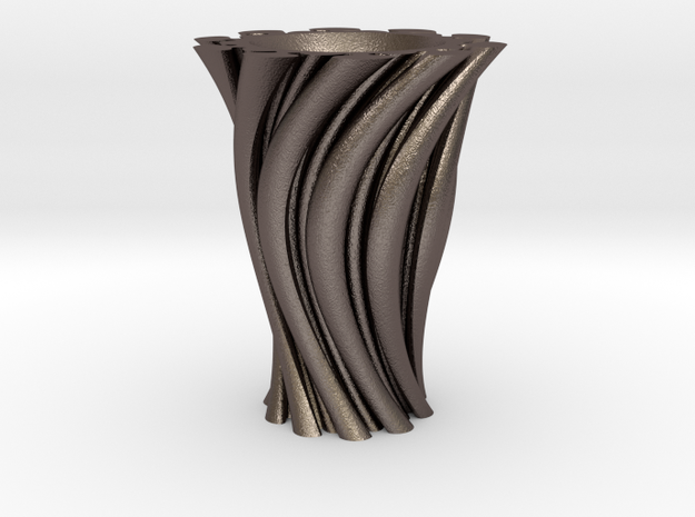 JAR in Polished Bronzed Silver Steel