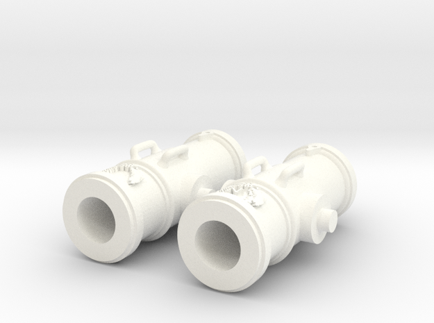 OBUSIER 8 Pouces LAUREL.stl in White Strong & Flexible Polished