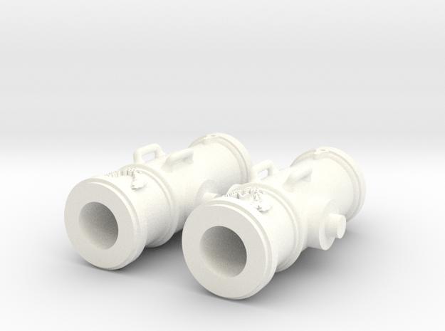 OBUSIER 8 Pouces LAUREL.stl in White Processed Versatile Plastic