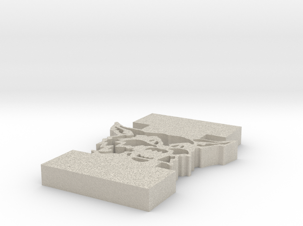 """SI Wildcat and Letter """"I"""" in Natural Sandstone"""