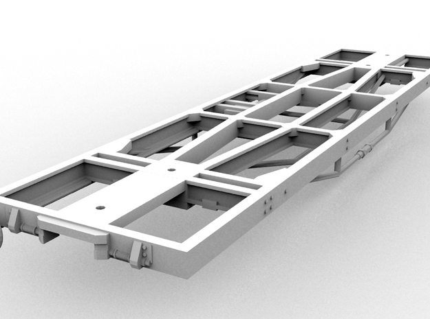 4-Pack Puffing Billy Standard Underframe(O/1:48)  in White Natural Versatile Plastic