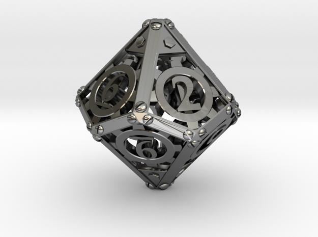 Steampunk d10 3d printed