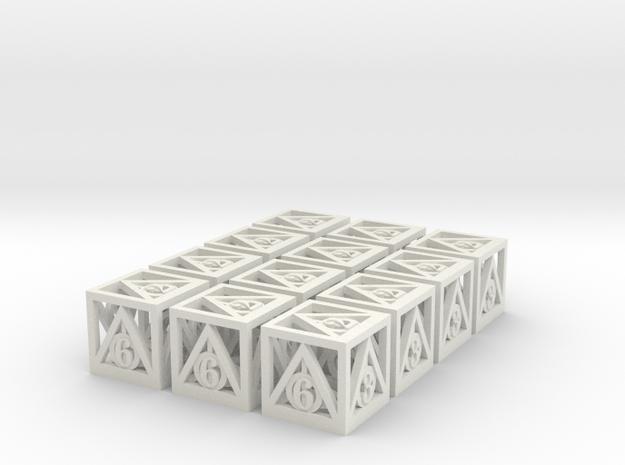 Deathly Hallows 12d6 Set 3d printed
