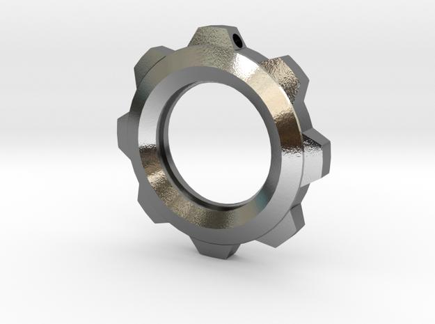 Steampunk Gear Pendant (No Text) 3d printed