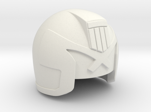 Judge Helmet 3d printed Painted Frosted Ultra Detail