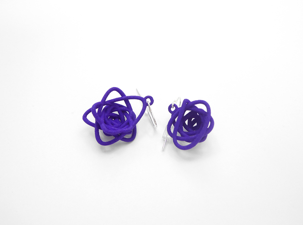 Sprouted Spiral Earrings in Purple Strong & Flexible Polished