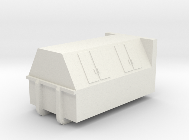 Dumpster (n-scale) in White Natural Versatile Plastic