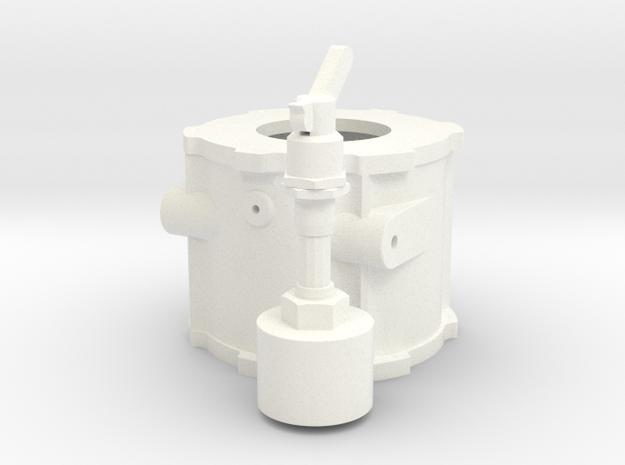 1/8 Scale Lenco Tranny Mid Section in White Processed Versatile Plastic