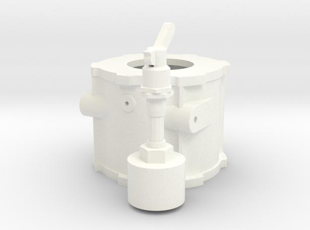 1/12 Lenco Mid Tranny Section in White Processed Versatile Plastic