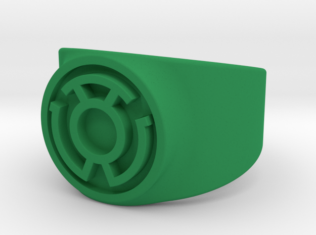 Sinestro Yellow Fear GL Ring Sz 10 3d printed