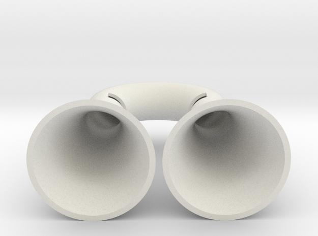 Iphone Speaker in White Natural Versatile Plastic