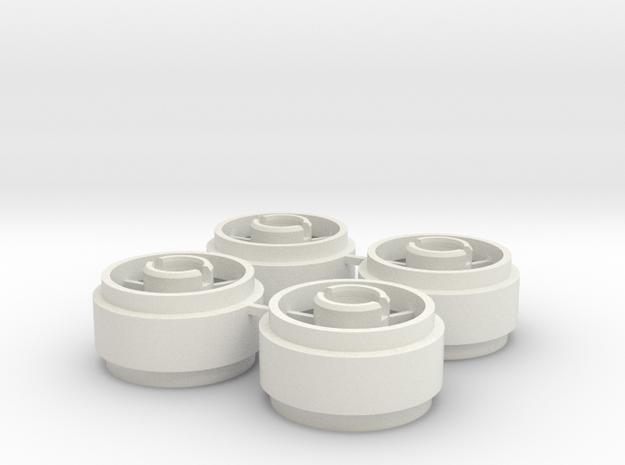 Mini-z SIPT29 Wheelset +1 in White Natural Versatile Plastic
