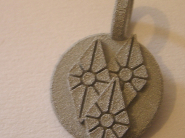 Diamonds Pendant 3d printed Material shown not for sale.