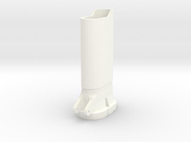 Nerf Star Lord Quad Blaster Top Barrel in White Processed Versatile Plastic