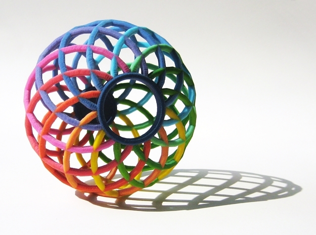 Colorful Spectrum Bowl - in Full Color Sandstone 3d printed The Spectrum Bowl by seriaforma is a beautiful accessory for your home in Full Color Sandstone.