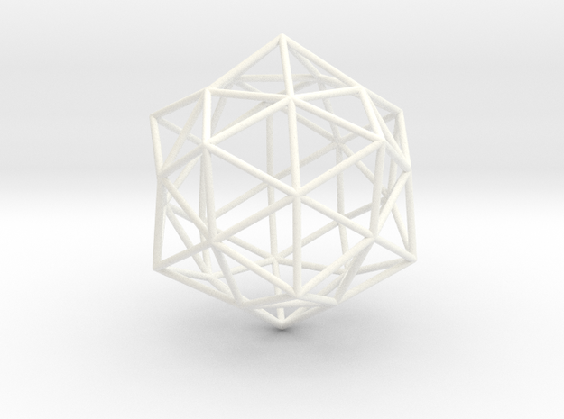 Christ Consciousness Pendant in White Processed Versatile Plastic