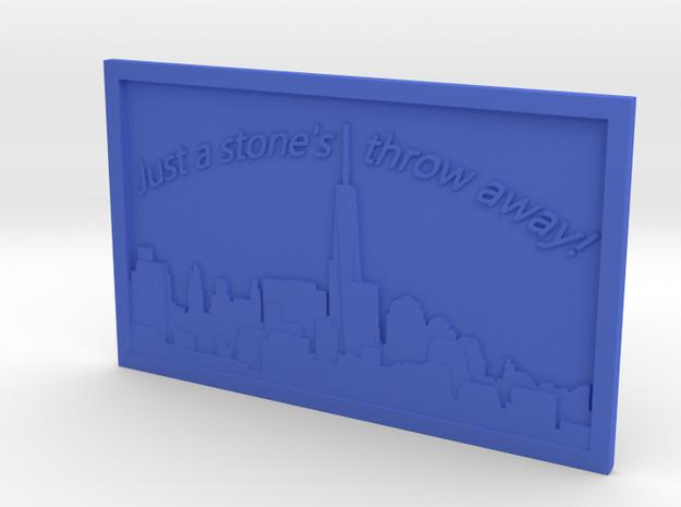 NYC Skyline 3d printed