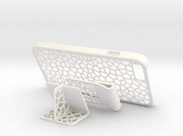 iPhone 6 - Case CELLULAR + 2 Addons in White Processed Versatile Plastic