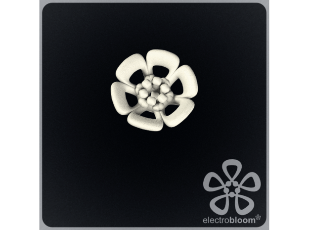 Joshua flower charm. in White Strong & Flexible