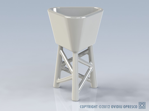 Triangular Sake & Espresso Tower (Cup) 3d printed