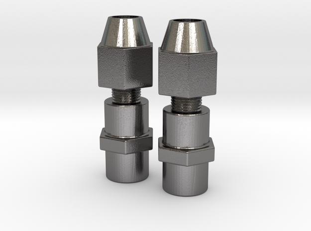 Pair Gauntlet RH WC Fittings ROTJ  in Polished Nickel Steel