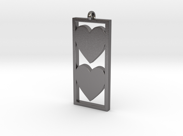 Two Hearts 3d printed