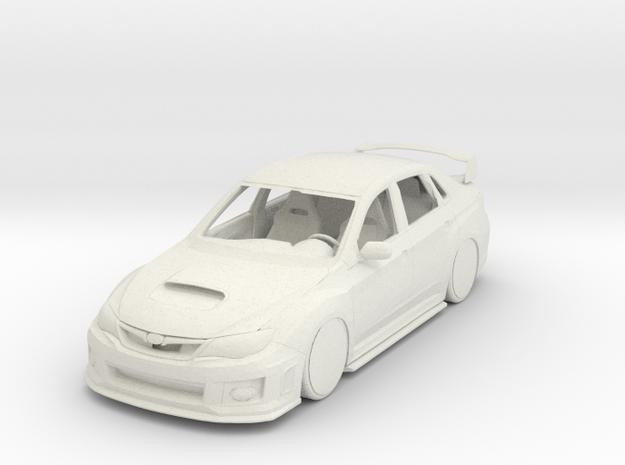Subaru Impreza WRX STI JDM Car in White Natural Versatile Plastic