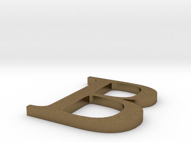 Letter-B in Natural Bronze