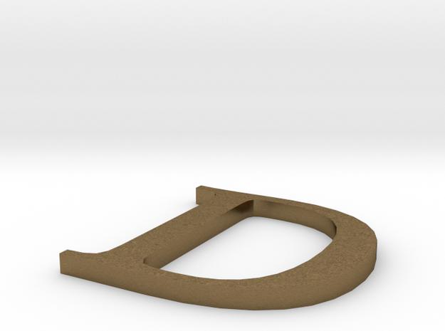Letter-D in Natural Bronze
