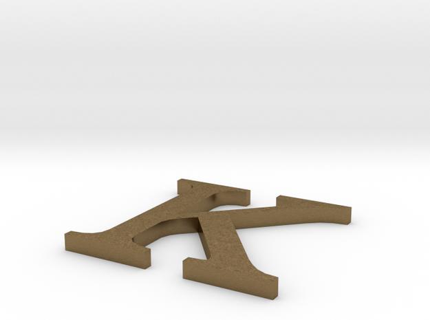 Letter-K in Natural Bronze