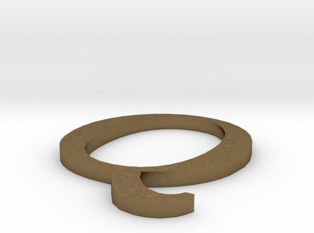 Letter-Q in Raw Bronze