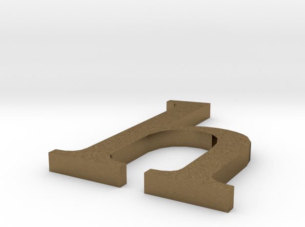Letter- h in Raw Bronze