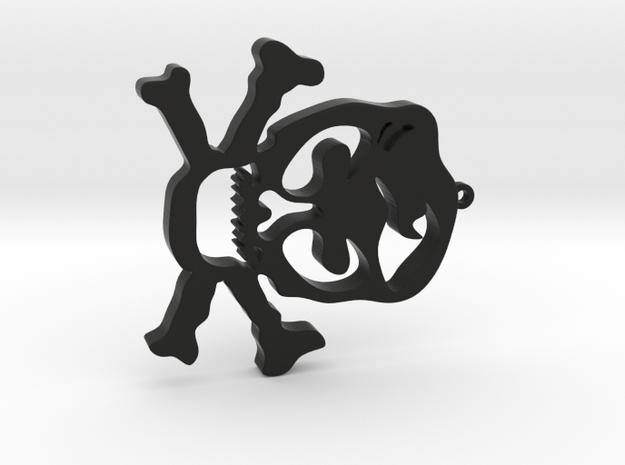 Skull Pendant in Black Natural Versatile Plastic