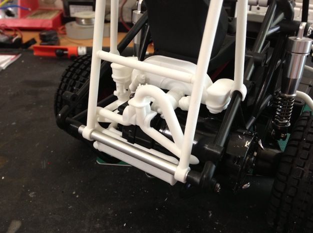 FA10003 Military Engine Exhaust for Tamiya, FAV 3d printed