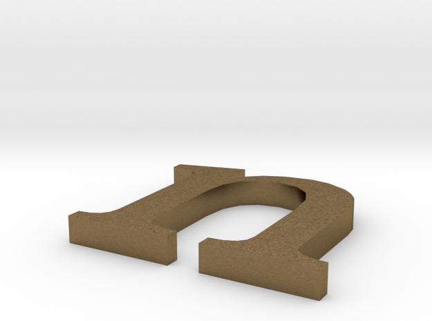 Letter- n in Natural Bronze