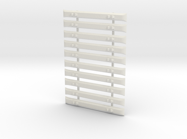 7mm Steel Sleepers x 10 in White Natural Versatile Plastic