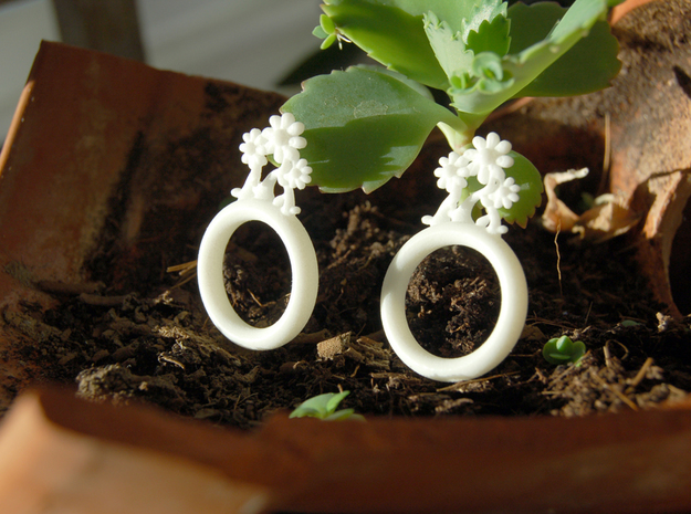 Daisy Ring D20 in White Strong & Flexible Polished