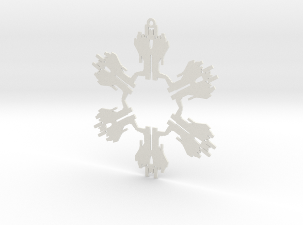 Snowflake Starscream Ornament  3d printed