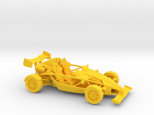 Ariel Atom 1/43 scale RHD w/wings in Yellow Processed Versatile Plastic