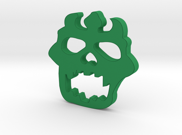 Triklopsringsface in Green Processed Versatile Plastic