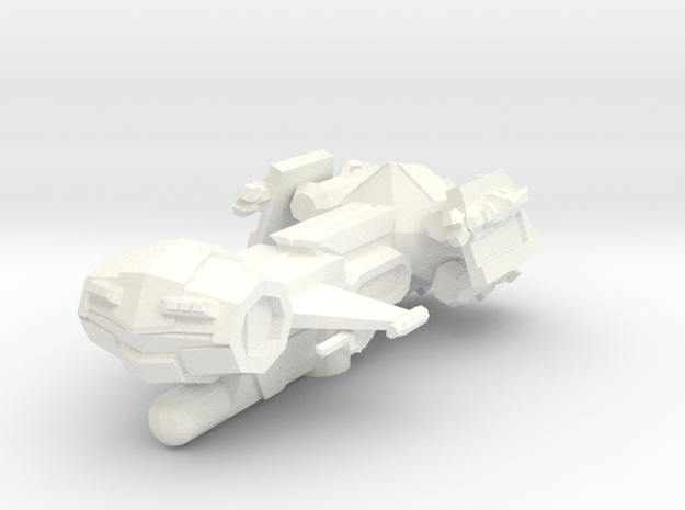 Ares Class Frigate in White Strong & Flexible Polished