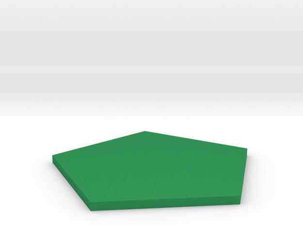 Pentagon in Green Processed Versatile Plastic