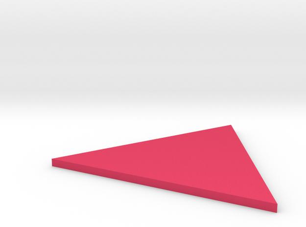 Triangle in Pink Processed Versatile Plastic