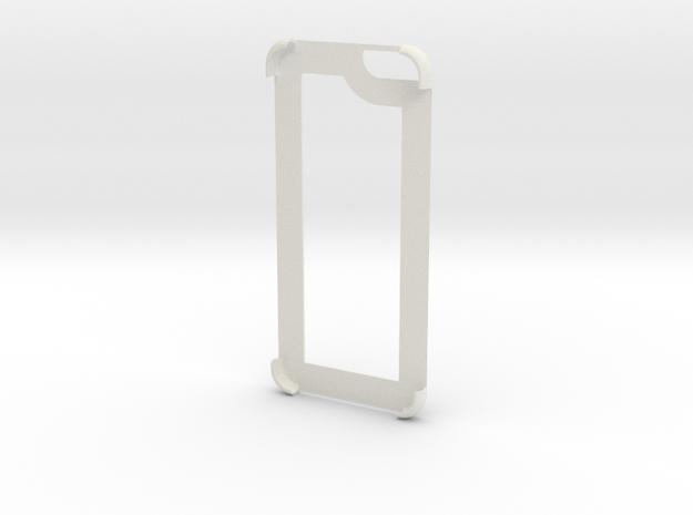 Iphone 6 Edge Cover in White Natural Versatile Plastic