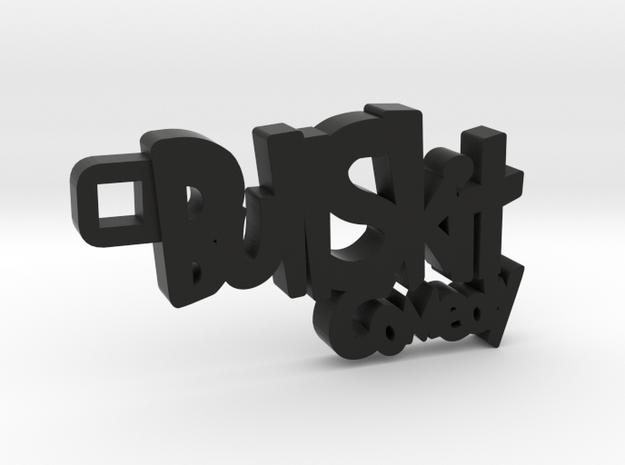 Bull Skit Keychain in Black Natural Versatile Plastic