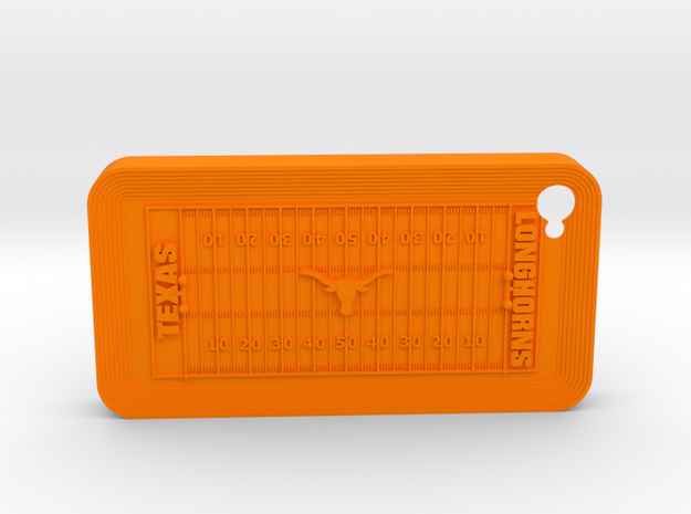 iPhone 4 Football UT  in Orange Strong & Flexible Polished